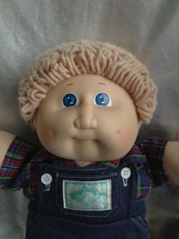 Vintage Cabbage Patch Kid Boy Ash Blond Blue Eyes By