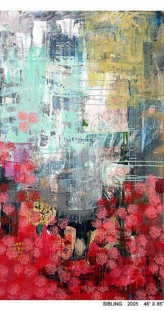 Pintura Estampación Rosas.