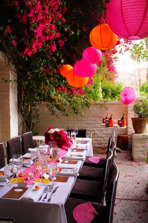 parties at parker palm springs | The Parker Palm Springs 40th Wedding Anniversary private dinner party ...