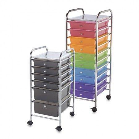 Alvin Blue Hills Studio Mobile Storage Carts