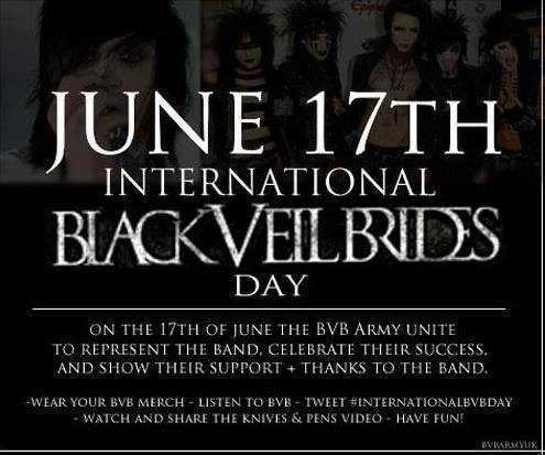 June 17th!!!!  Black Veil Brides <3 and on my bday!!!!!!!! Oh yeah!!!