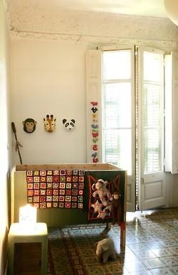 petitspetitstresors:    Theo's nursery- xo-in my room animal mask