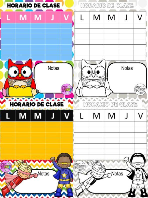 Lindos horarios de clases - http://materialeducativo.org/lindos-horarios-de-clases/