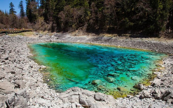 Beautiful Lake Jiuzhaigou CHINA 2016