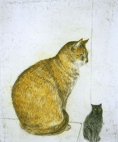 Abyssinian Cat | etching, 2003 | Elizabeth Blackadder