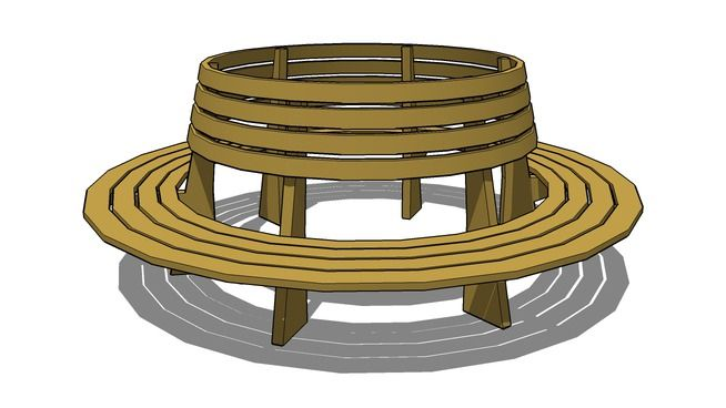 Circle Tree Bench ~ Best images about tree bench plans on pinterest