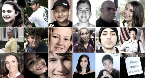 Remembering the victims of the Parkland Fla. high school...   Remembering the victims of the Parkland Fla. high school shooting  The gunman who opened fire at Marjory Stoneman Douglas High School in Parkland Florida wiped out lives and left friends and family struggling to cope after Americas latest mass shooting. (AP)  Top row from left: Alyssa Alhadeff Scott Beigel Martin DuqueAaron FeisJaime Guttenberg Middle row from left:Chris HixonLuke HoyerCara Loughran Gina MontaltoJoaquin Oliver…