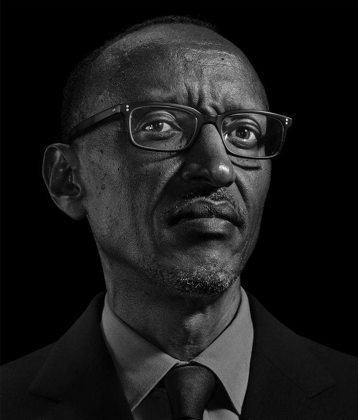 Paul Kagame > by Nadav Kander.