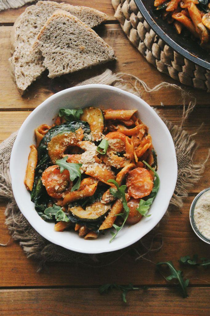 one pot mushroom zucchini pasta