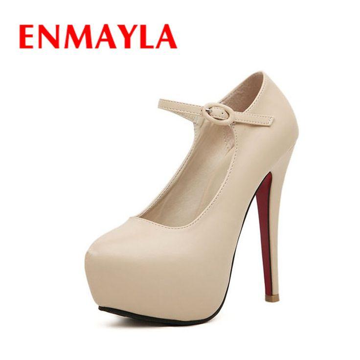 Купить ENMAYLA женская Мода Нового Прибытия женские Сексуальные Высокие Каблуки Платье обувь 14 см Женщины/Дамы Черные Туфли Женщина Размер 35 40и другие товары категории Туфлив магазине Chengdu Ying Meier Shoes CO., LIMITEDнаAliExpress. обувь heelys и обувь унисекс