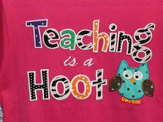 Teachers Shirts on Etsy, $23.00 This would also be the perfect slogan for the Thirty One owl print
