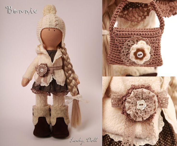 Интерьерная кукла Bonnie ручной работы