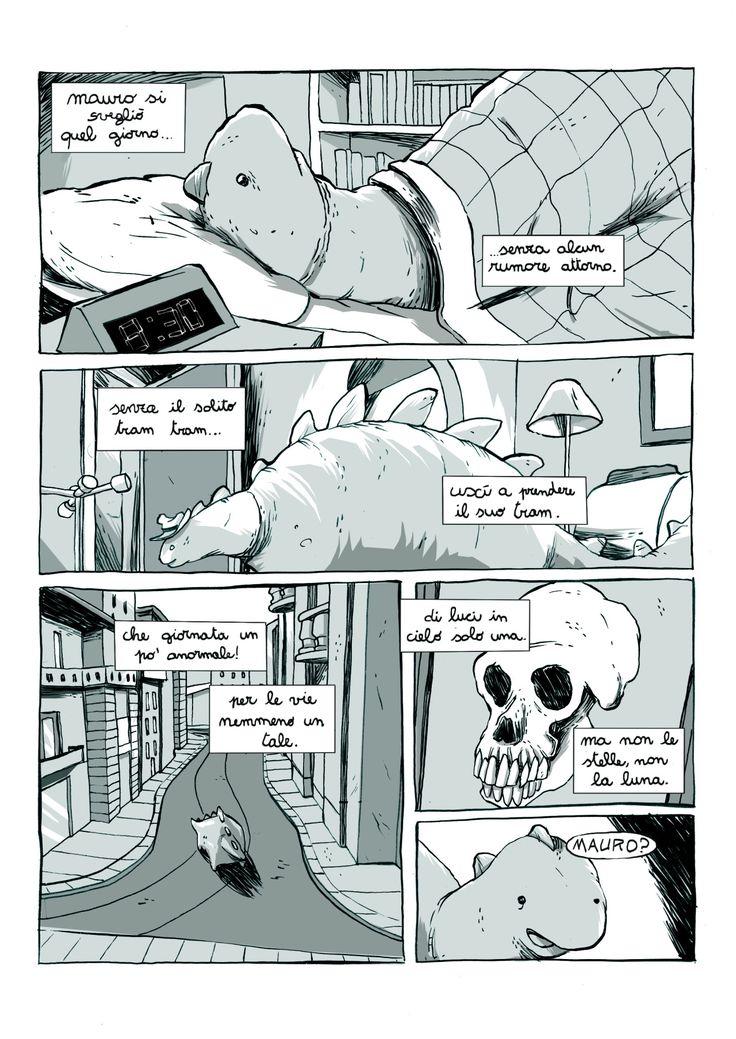 """Pablo Cammello, La Città Vuota """"Dieci Lune"""" (BAE) #dinosauri #fumetto #città #apocalisse #art"""