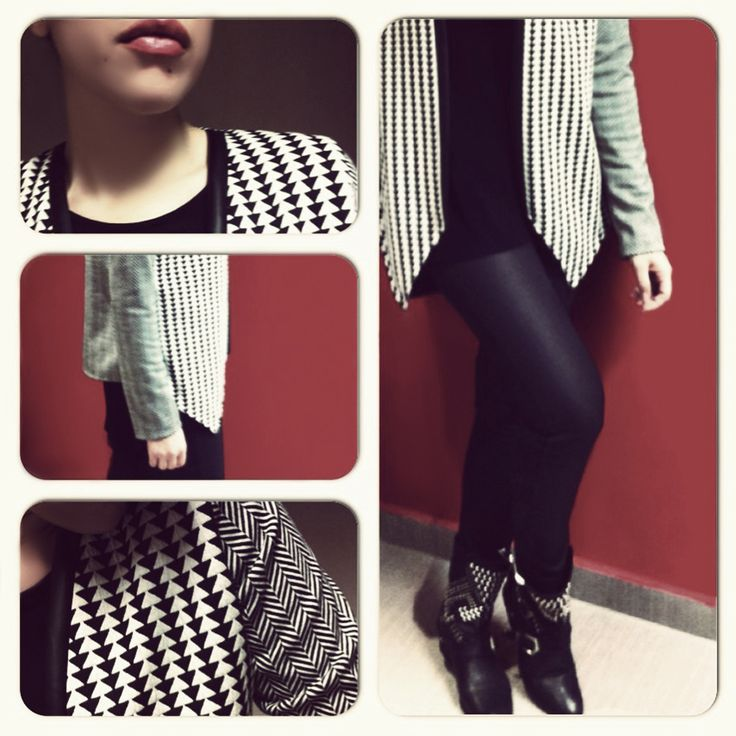 SARTORIAL   Chryssomally    Art & Fashion Designer - Black&white assymetrical cardigan