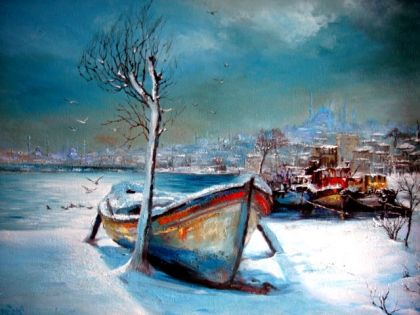 Ressam Remzi Iren Cibalide Kış Artist Remzi Iren Turkish