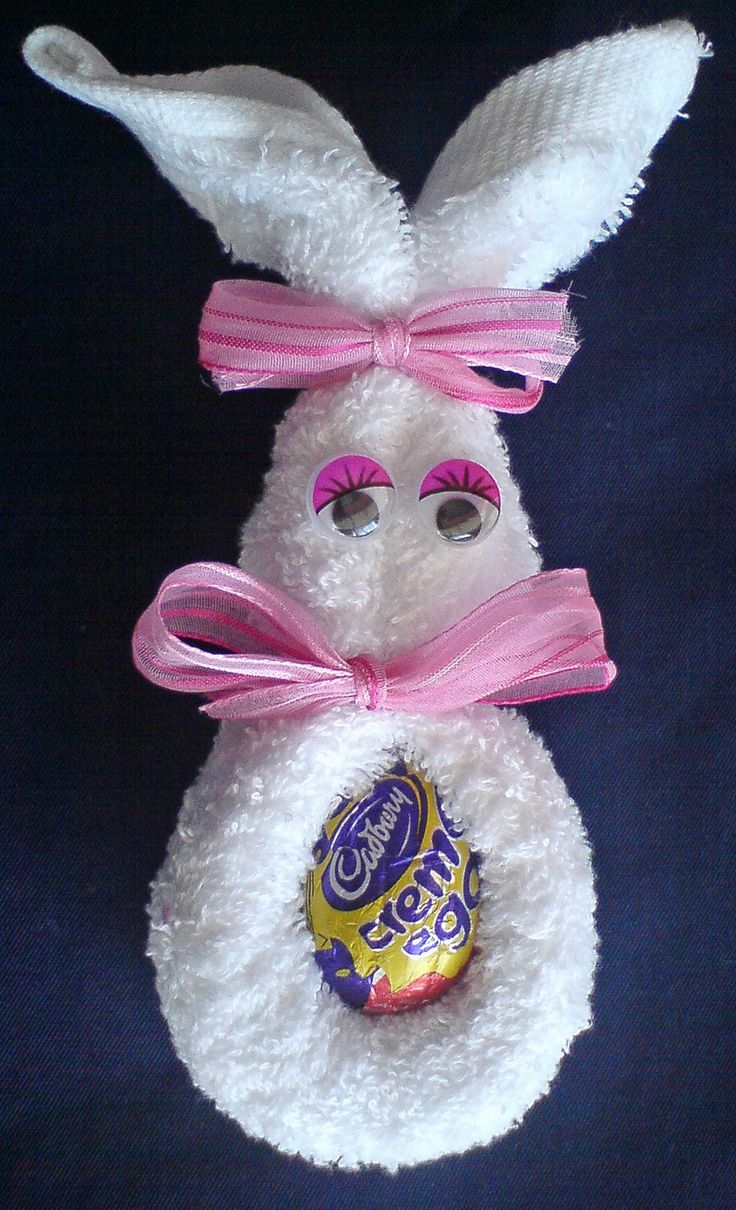 The 25 best bunny crafts ideas on pinterest easter crafts face cloth easter bunny negle Images