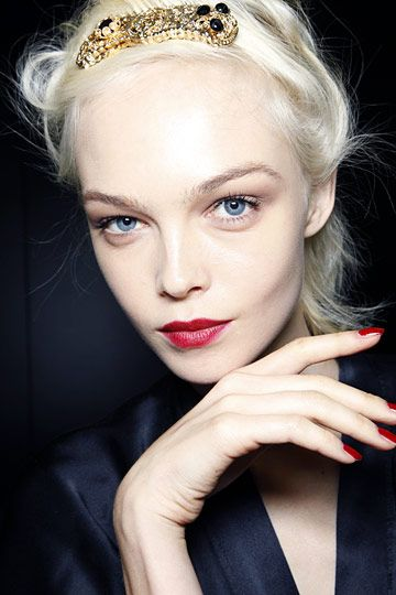 Siri Tollerod - red lips #birchbox