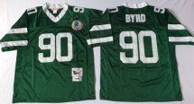Jets #90 Dennis Byrd Green Throwback Jersey
