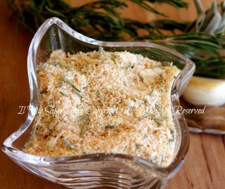 Pangrattato aromatizzato per gratinatura: ideale per ricette che prevedono una gustosa crostina dorata, croccante e saporita. Utile in cucina,facile da fare