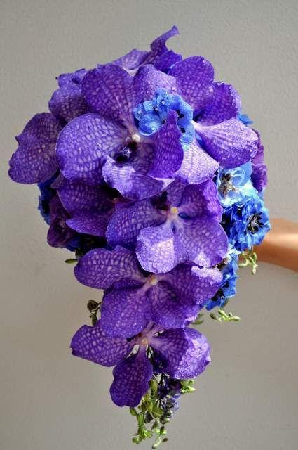Purple Vanda drop bouquet - designed by Arioso