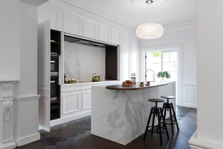 Chambre Couleur Beige Et Blanc :  cuisine intégrée blanc laqué conception de cuisine cuisines