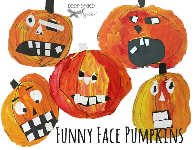 Pumpkin-Art-project-for-kinders-- maybe a good lesson to teach about appropriate emotions lol.