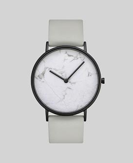 White Stone / Grey Leather