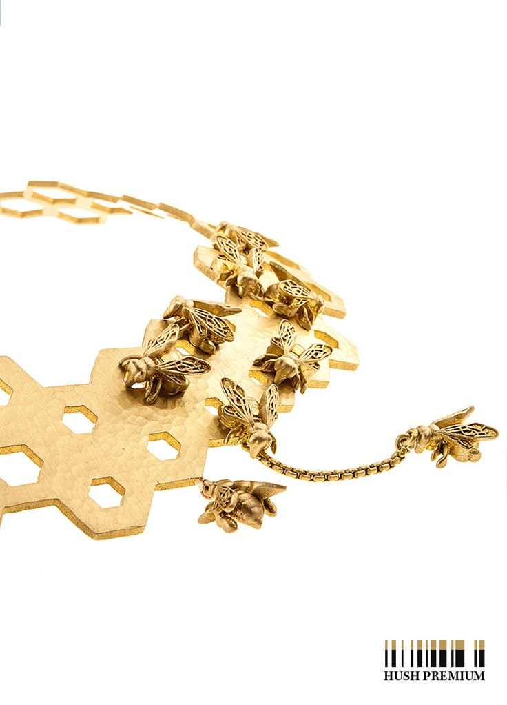 ORSKA - jewellery #hushwarsaw #hushpremium #orska #gold #fashion #polishfashion #design #bee #musthave