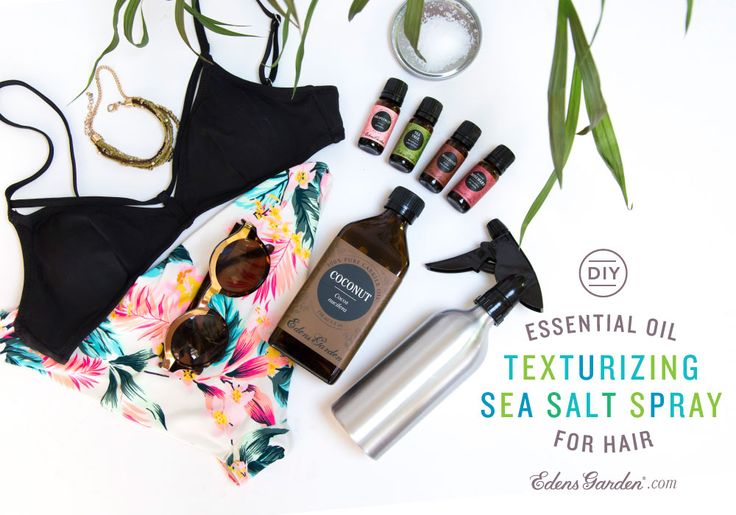 Get those textured, just jumped in the ocean, effortlessly gorgeous locks with our DIY essential oil sea salt texturizing spray for hair!