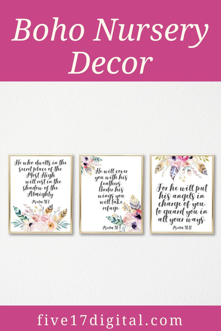 This feather Scripture printable set would be the perfect addition to your baby girl's boho themed nursery. It would also make a great baby shower or baptism gift.