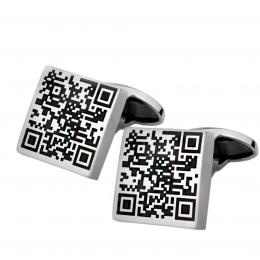 Cufflinks with individual QR-code