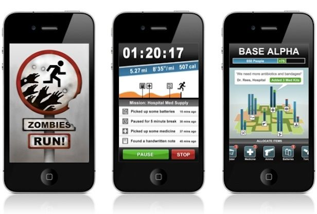 this zombie app helps you keep running by making you feel like you're running from zombies! 20-30 minute run
