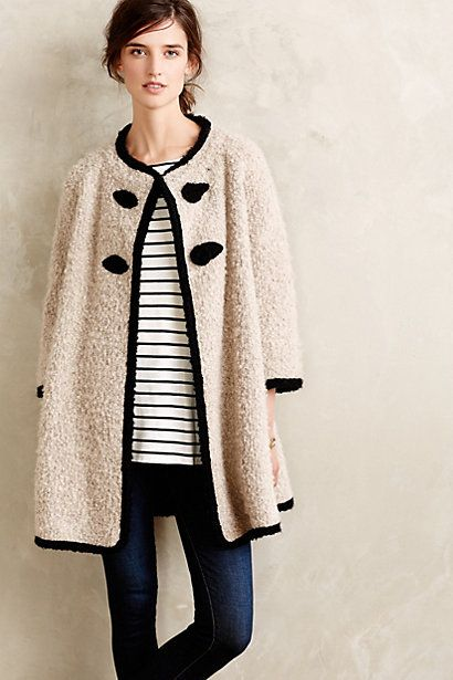 Blaire Boucle Coat #anthropologie #anthrofave
