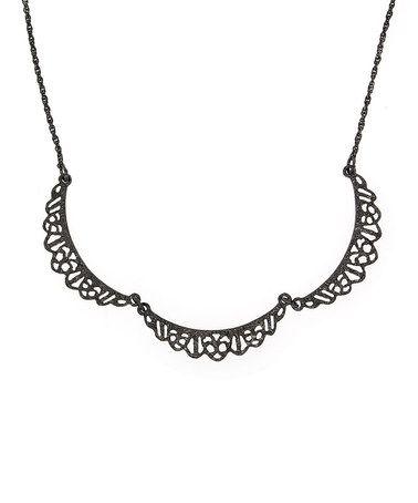 Look what I found on #zulily! Black Downton Abbey Belle Epoch Filigree Scallop Necklace #zulilyfinds