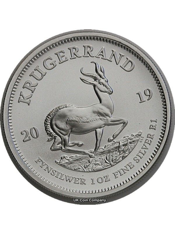 2019 South Africa 1 Oz Silver Krugerrand Uncirculated Coin Silver Krugerrand Coins Silver