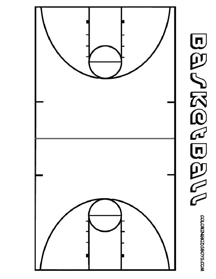 Free printable basketball court