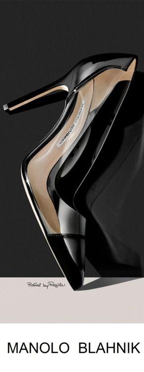 Manolo Blahnik ~ 'BB' Pointy Toe Pumps, Black/Tan
