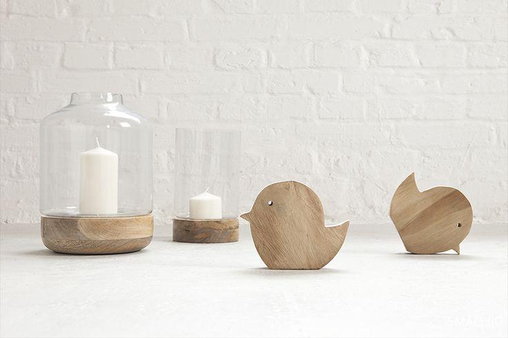© smallbigidea.com wood, glass and candles.
