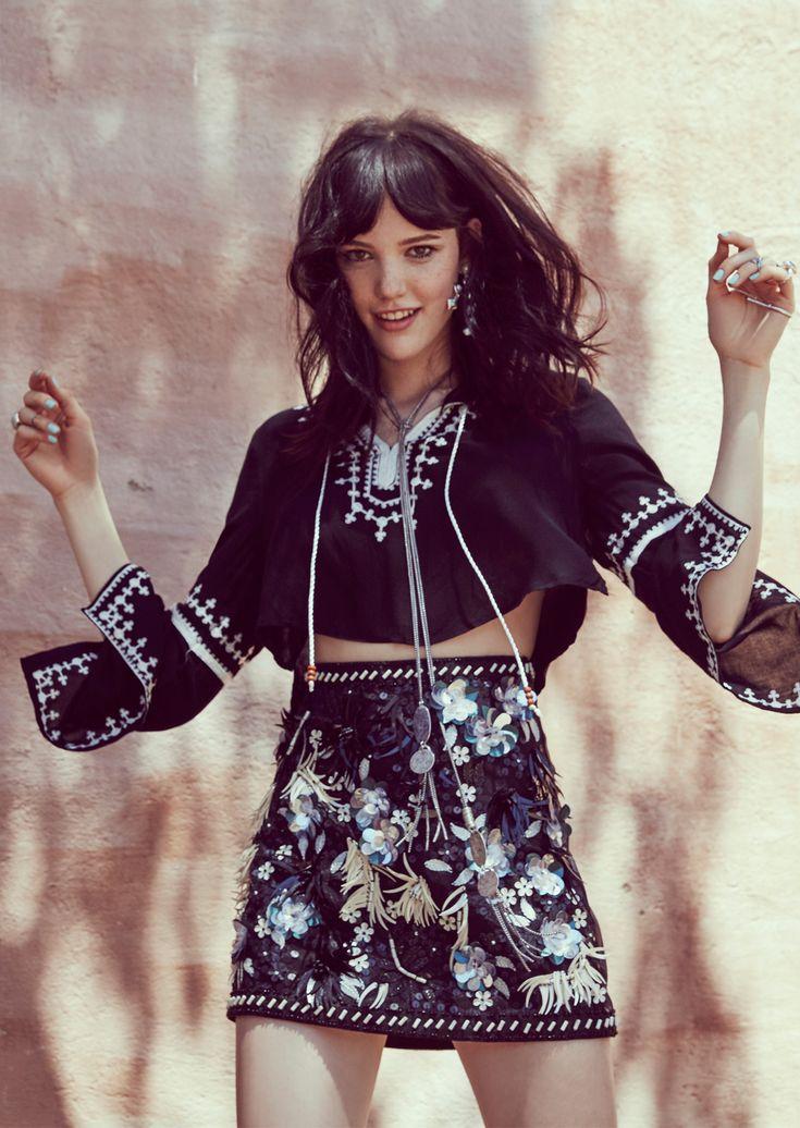 BoHo Beauty.bohemian boho style hippy hippie chic bohème vibe gypsy fashion indie folk dress