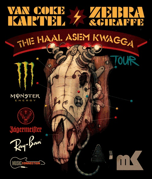 Van Coke Kartel Zebra & Giraffe. The Haal Asem Kwagga Tour