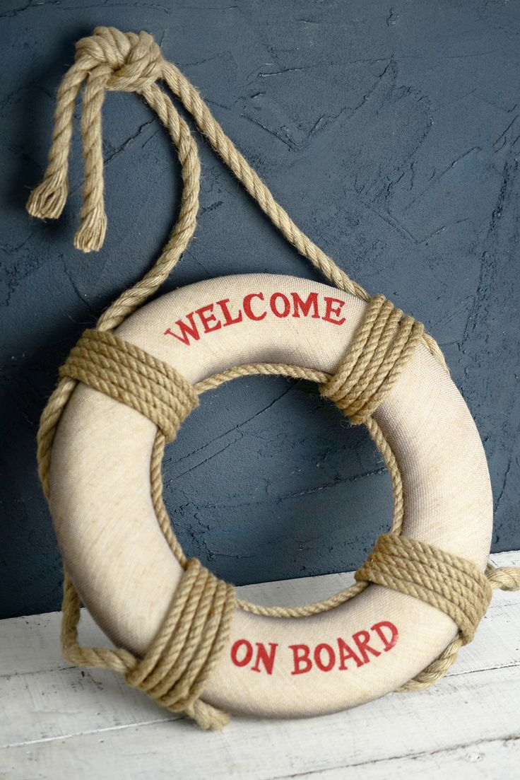 """""""Welcome on Board""""  Life Preserver  18in"""