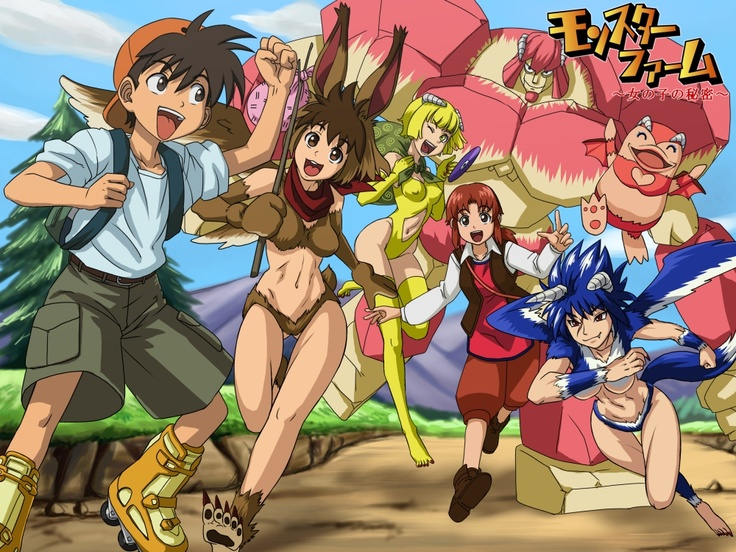 Monster Rancher- Genki with an all-girl monster team