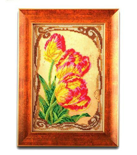 Кроше (Радуга бисера) В-415 Бархатные тюльпаны, набор для вышивки