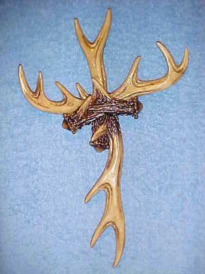 Antler Cross Wall Hanging Decor Deer Wildlife Hunting Crosses