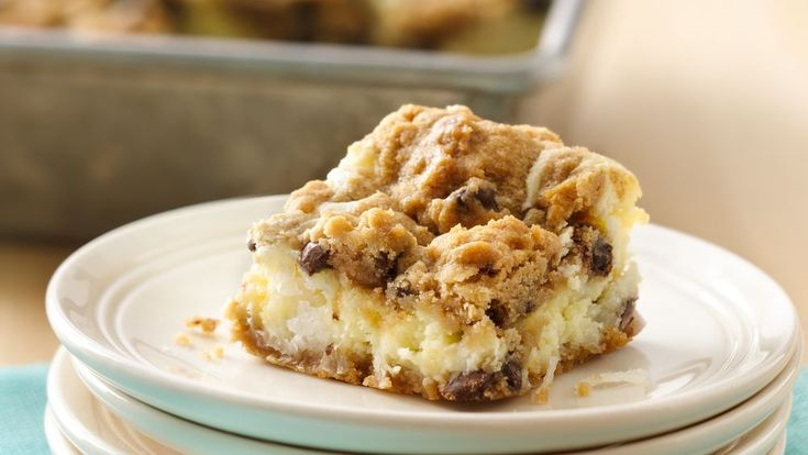 The best of all possible worlds -- creamy cheesecake filling on a chocolaty…
