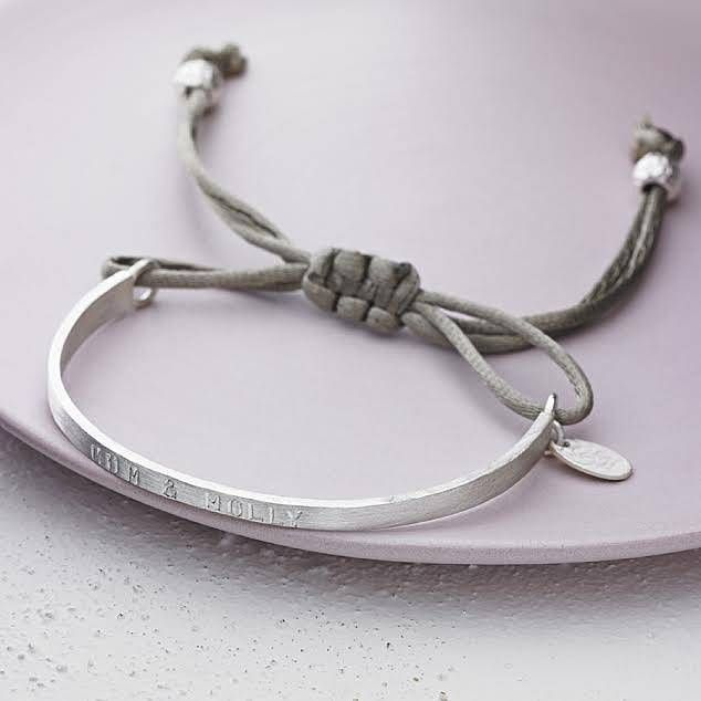 silver personalised friendship bracelet by chambers & beau | notonthehighstreet.com