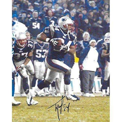 Ty Law, New England Patriots, Signed, Autographed, 8x10 Photo, a COA with the Proof Photo of Ty Signing Will Be Included