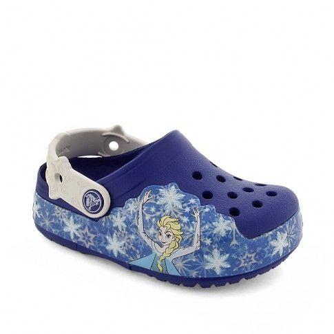 Sandale plaja Crocslight Frozen Cerulean Blue - #Crocs