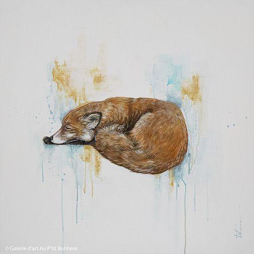 Tammy Shane, 'All Tucked In', 25'' x 25'' | Galerie d'art - Au P'tit Bonheur - Art Gallery
