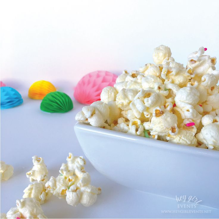 This popcorn recipe is perfect for those who love that sweet and salty  combo. Whenever we serve up this snack it is gone within minutes! Give it a  try, it's easy and delicious.   White Chocolate Confetti Popcorn  INGREDIENTS:      *  16 cups of popped popcorn  *I use an inexpensive air popper (1/2 cup       of kernels = 16 cups of popped popcorn)     * 1 cup white chocolate chips or melting wafers. We use Ghiradelli       White Melting Wafers.     * Rainbow Jimmies/Sprinkles      * Salt…